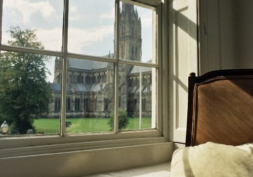 Sarum College - Cathedral view from window